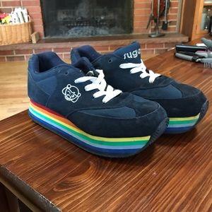 rainbow platform shoes